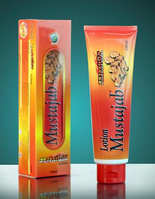 Losyen Mustajab Pati Halia Extra Hot