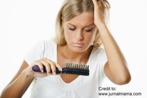 rambut rosak